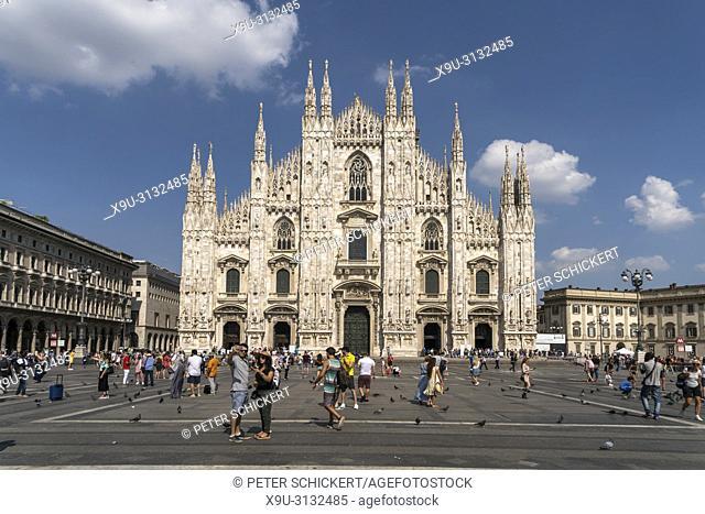 Mailänder Dom und Piazza del Duomo, Mailand, Lombardei, Italien | Milan Cathedral and Piazza del Duomo, Milan, Lombardy, Italy