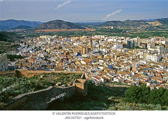 View on Sagunto from the castle. Valencia province, Spain