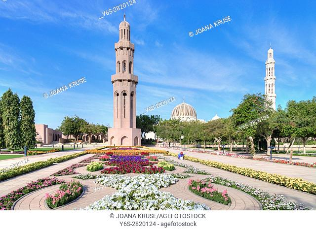 Sultan Qaboos Grand Mosque, Muscat, Oman, Middle East, Asia