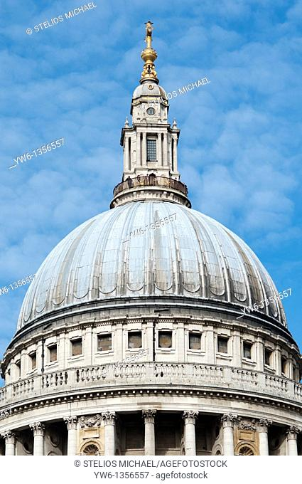 Dome of St Paul's Cathedral in London,England