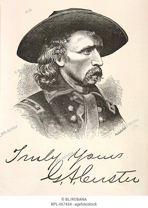 George Armstrong Custer 1839-76. American soldier. Commander of the 7th Cavalry at the Battle of the Little Big Horn, where he and 260 soldiers were surrounded...
