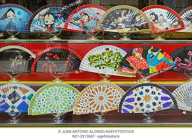 Spanish style fans. Seville, Andalucia, Spain, Europe