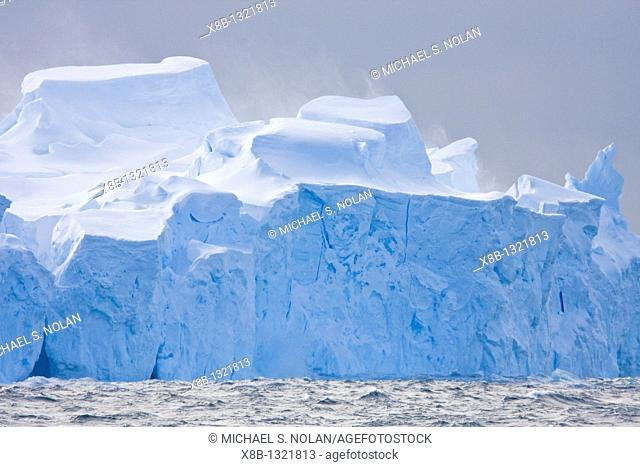 Iceberg detail in and around Crystal Sound near the Antarctic Circle on the Antarctic Peninsula during the summer months  More icebergs are being created as...