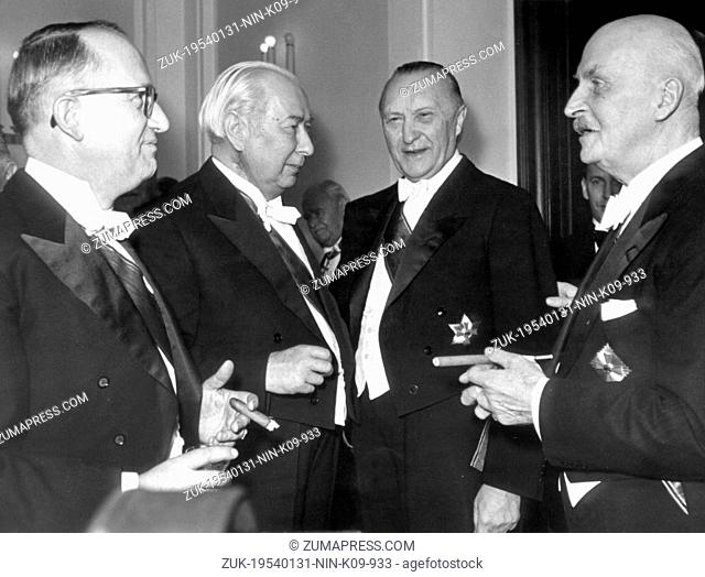 Jan. 31, 1954 - Bonn, Germany - West Germany's first chancellor KONRAD ADENAUER began his career in politics as a member of the Cologne City Council