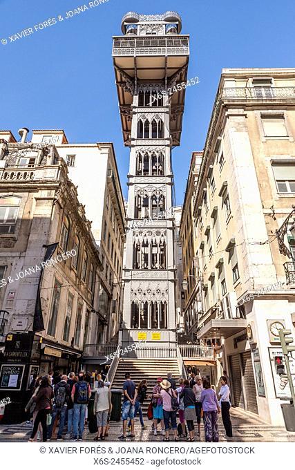 Santa Justa lift, Lisboa, Portugal