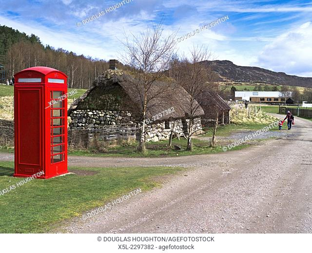 Highland Folk Museum NEWTONMORE INVERNESSSHIRE 1930s phonebox