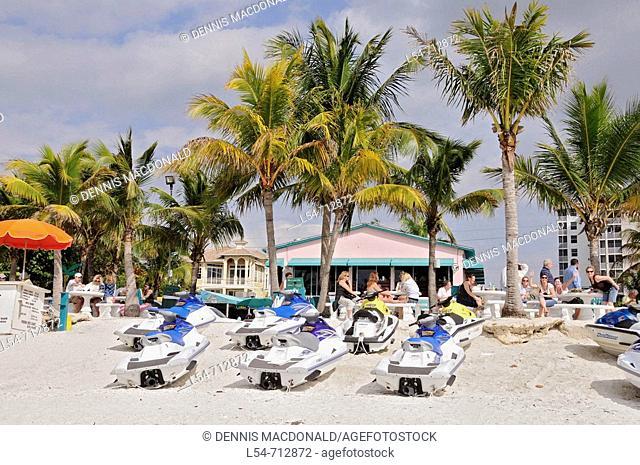 Beach activity and scene at Bonita Springs Beach Florida FL