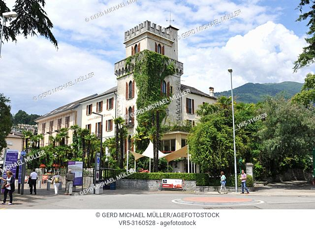 Ascona at the Lago Maggiore is famous for swiss and international tourists