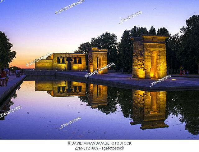 Debod Temple. Madrid, Spain