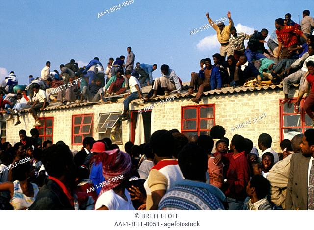 Crowd of people, South Africa
