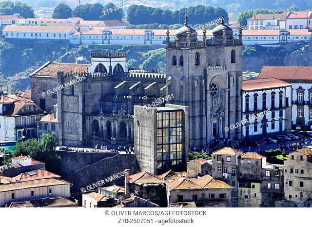 Porto Cathedral (Sé do Porto), one of the main monuments of the city. It is located in the historic city center, in the upper district of Batalha