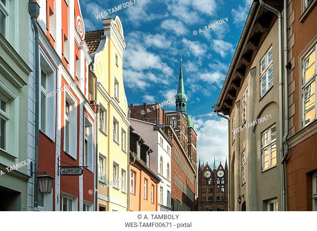 Germany, Mecklenburg-Western Pomerania, Stralsund, Houses in old town