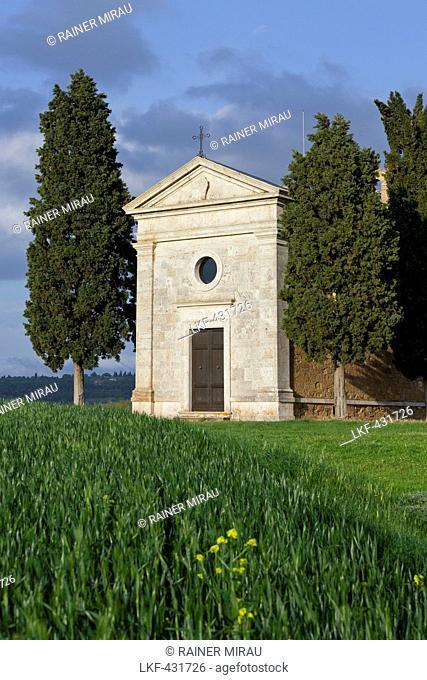 Chapel Santa Maria di Vitaleta, Valley Orcia, Tuscany, Italy