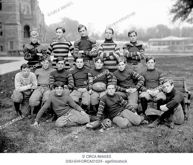 Georgetown University Football Team, Junior Preps, Portrait, Washington DC, USA, circa 1906