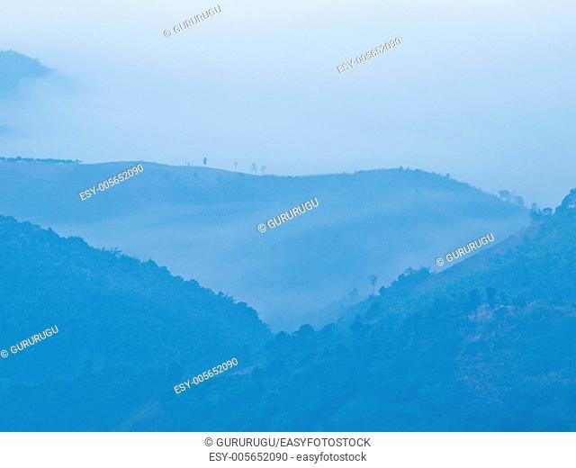 Mountain view Chaeng hill, Chiang rai Thailand