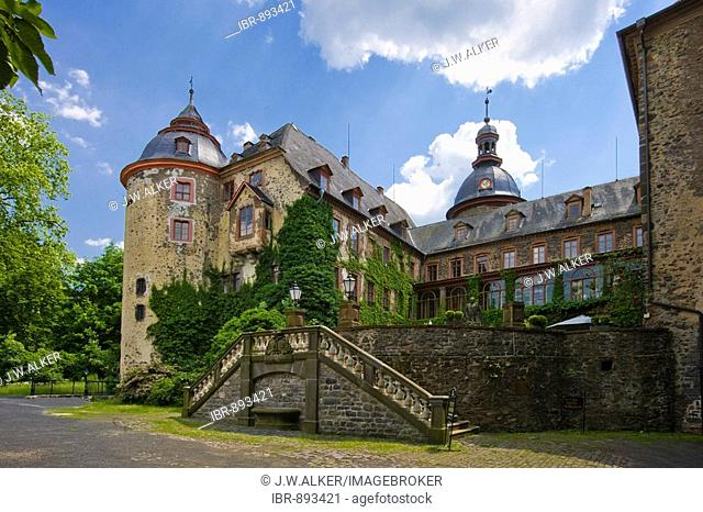 Laubach Castle, residence of the count zu Solms-Laubach, Laubach, Hesse, Germany, Europe