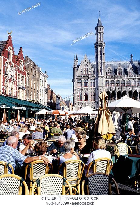 Restaurants at Bruges, Belgium