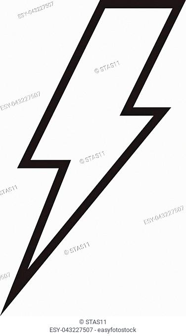 Lightning bolt line icon, outline vector sign, linear style pictogram isolated on white