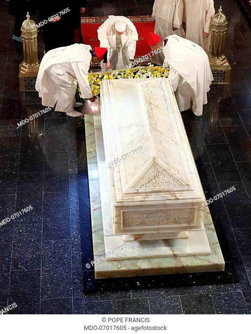Pope Francis visits the Mausoleum of King Mohammed V. Rabat (Morocco), March 30th, 2019