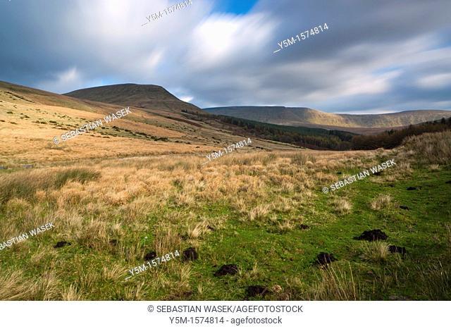View towards Torpantau, Brecon Beacons National Park, South Wales, UK, Europe