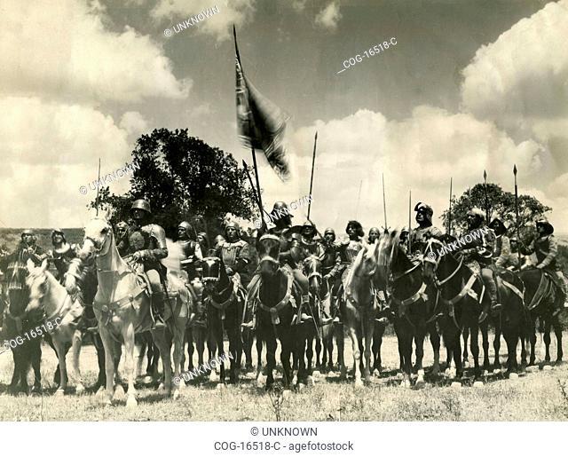 The riders in the film Ettore Fieramosca, Italy 1938