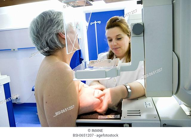 MAMMOGRAPHY EXAMINATION Photo essay at the hospital of Meaux 77, France