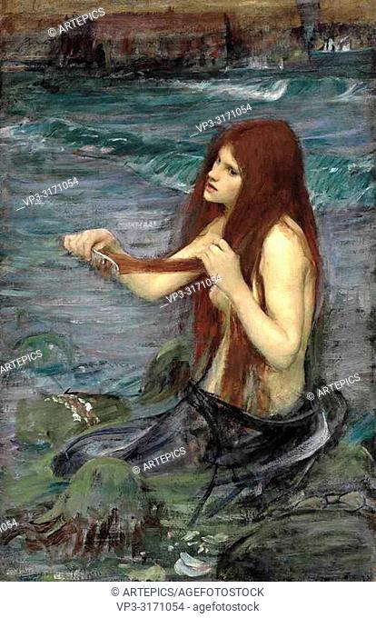 Waterhouse John William - a Mermaid 1 3 (Study)