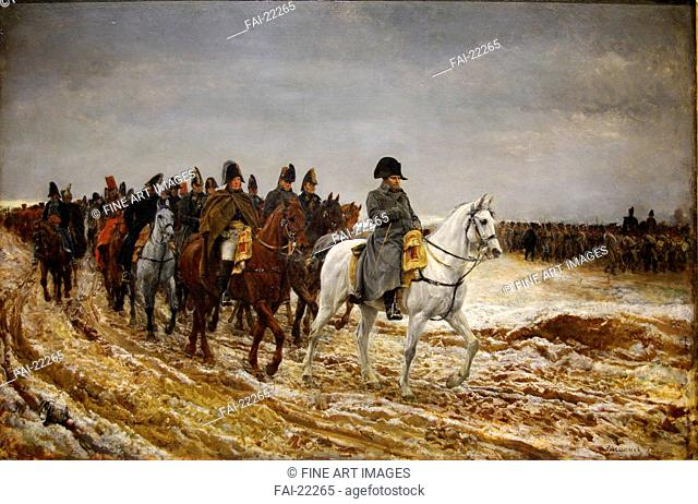 1814. Campagne de France (French Campaign). Meissonier, Ernest Jean Louis (1815-1891). Oil on canvas. History painting. 1864. France
