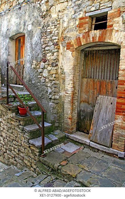 staircase and housing, Cancellara, Potenza, Italy