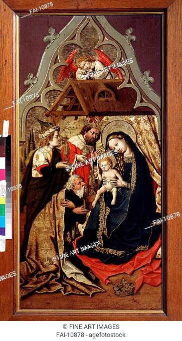 The Adoration of the Magi. Master of the Lichtenstein Castle (Mid 15th century). Oil on wood. Renaissance. c. 1440. State A