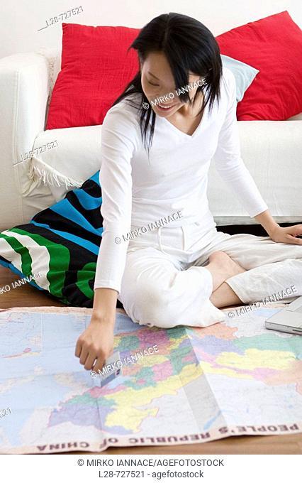 Woman Planning Travel