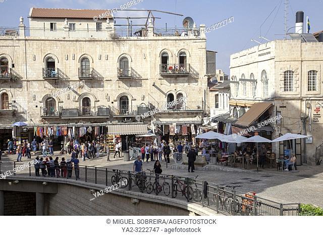 Jerusalem Old City Christian Quarter in Israel
