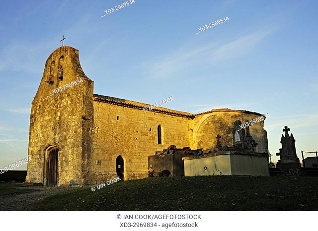 Queyssel Church, Lot-et-Garonne Department, Aquitaine, France