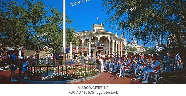 Wind orchestra, Magic Kingdom, Disney World, Orlando, Florida, USA