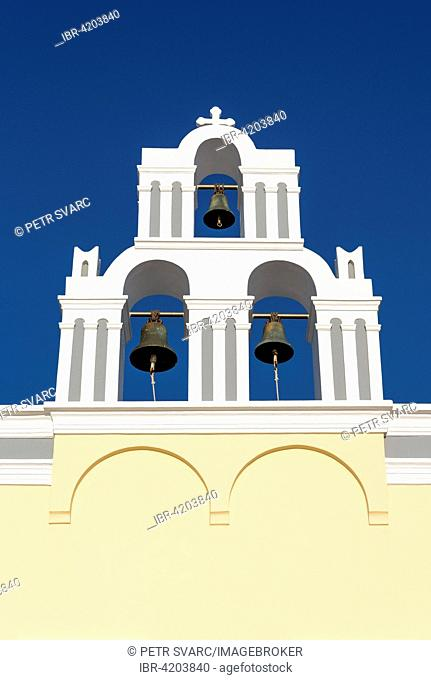 Belfry of Agios Theodori Church, Firostefani, Santorini, Greece