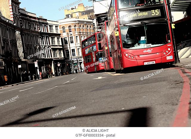 Buses in a London Street