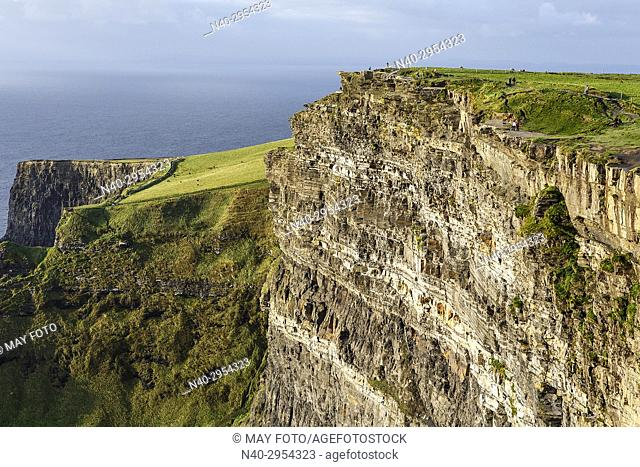 Moher cliffs, Burren region, Ireland, Europe