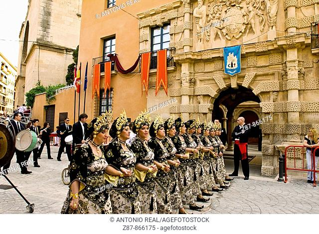 Moros y cristianos festival, Almansa. Albacete province, Castilla-La Mancha, Spain