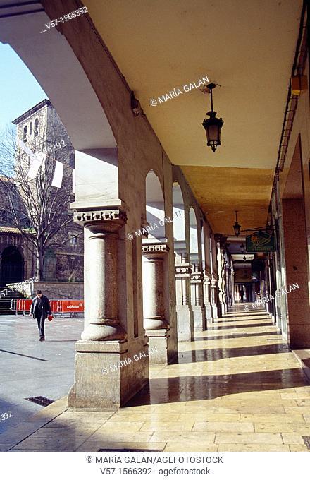 Galiana street. Aviles, Asturias province, Spain
