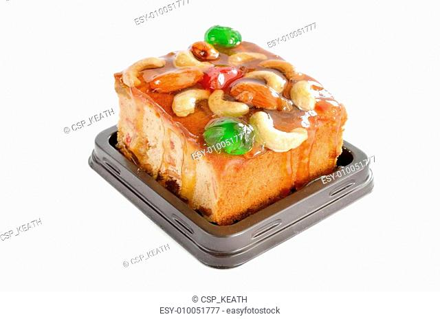 fruits cake with mix nut and dried fruit