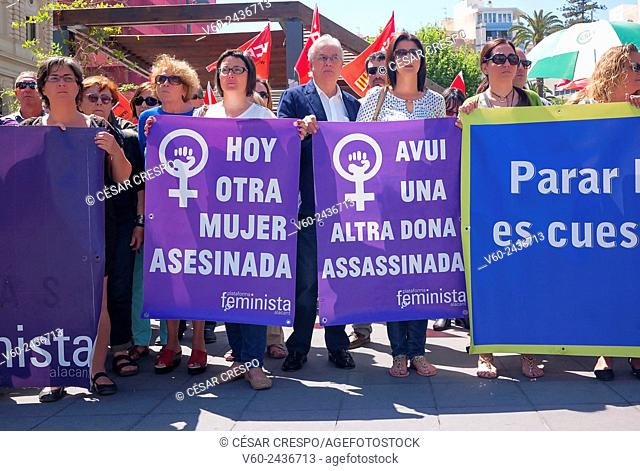 -Demonstrations against Male Chauvinism-Alicante (Spain)