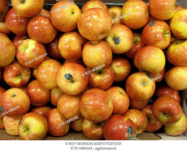 Display of red apples
