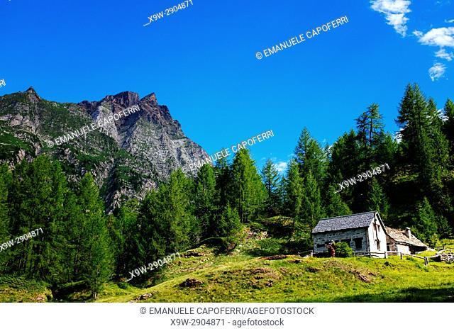 Beautiful mountain landscape, Alpe Devero, Italy