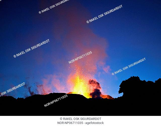 Volcanic eruption in South Iceland, image shot 29. Mars 2010