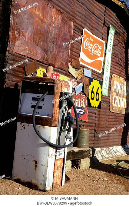 old fuel station, USA, California