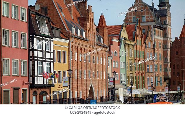 Group of buildings in the city centre of the polish city of Gdansk, Pomerania region, Poland, Eyrope