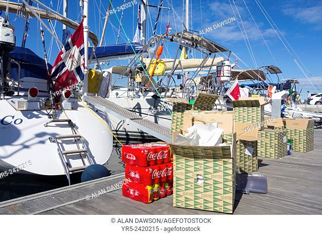 Las Palmas, Gran Canaria, Canary Islands, Spain. yachts prepare for the ARC (The Atlantic Rally for Cruisers) transatlantic race/crossing which starts in Las...