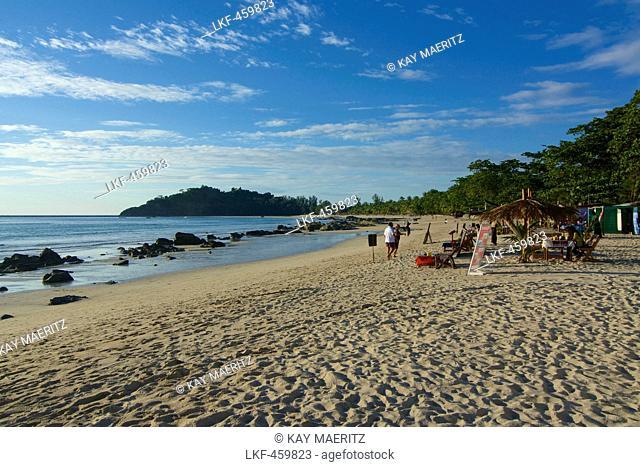 Beach at Ngapali, most famous beach resort in Burma at the Bay of Bengal, Rakhaing State, Arakan, Myanmar, Burma