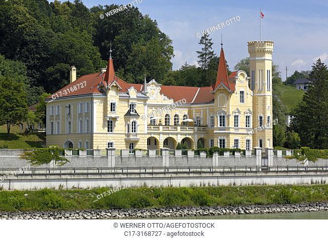 Saxen an der Donau, Dornach, Austria, Upper Austria, District Perg, Saxen an der Donau, Machland, Muehlviertel, Strudengau, Dornach Castle at the Danube bank