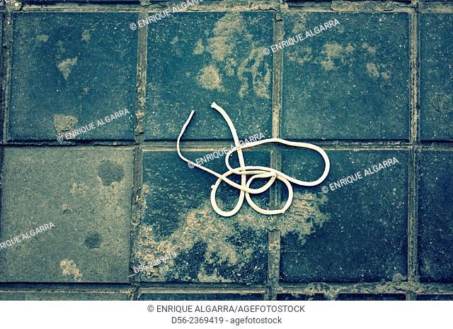 cordon thrown on the floor, Valencia, Spain
